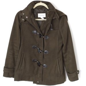 BCBGeneration Green Peacoat with Toggles Small